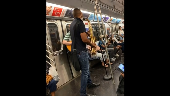 The image is taken from the video of the musical performance.(Instagram/@subwaycreatures)