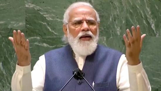 Prime Minister Narendra Modi addressed the nation on the 81st episode of Mann Ki Baat programme.(PTI Photo)