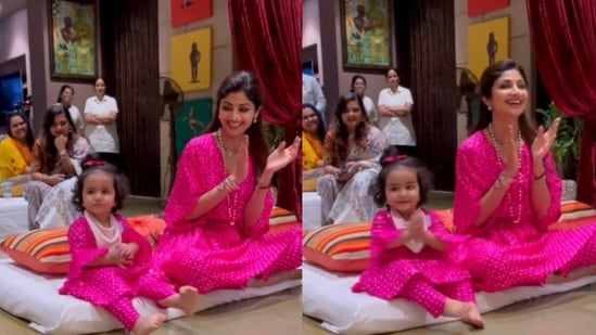 Shilpa Shetty shared a video with her daughter Samisha to celebrate Daughters' Day.