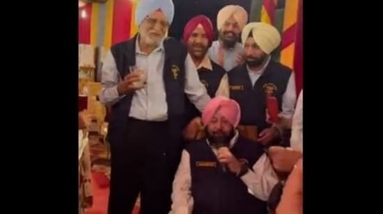 Amarinder Singh has hosted a get-together for his NDA batchmates.