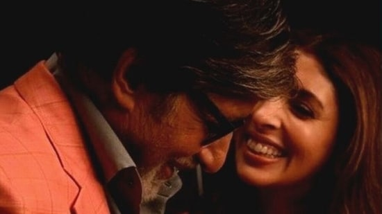 Amitabh Bachchan with his daughter Shweta Nanda.