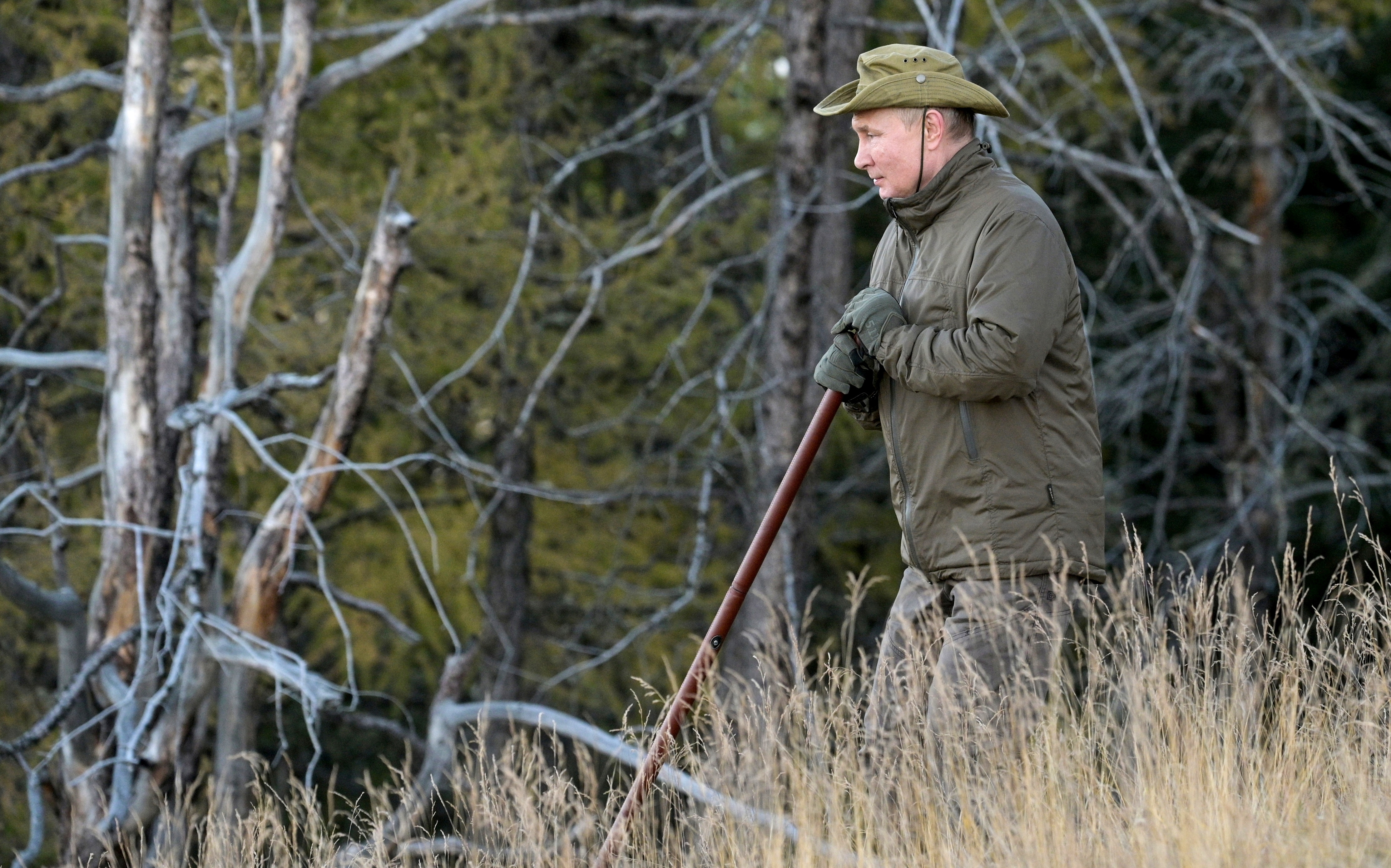 Russian President Vladimir Putin spends a short vacation at an unknown location in Siberia, Russia(via REUTERS)
