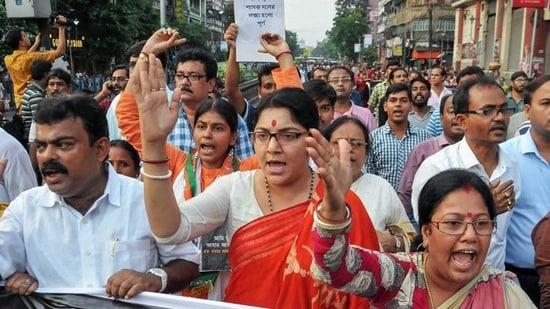 BJP MP Locket Chatterjee hit back at Trinamool Congress to say Mamata Banerjee's chance at winning the bypolls at Bhabanipur looks uncertain.(File photo)