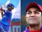 Rishabh Pant went ahead of Virender Sehwag to achieve a huge Delhi Capitals milestone.(IPL/Getty)