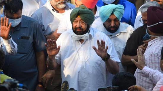 Captain Amarinder Singh resigned as the chief minister on September 18, hours before a meeting of the Congress Legislature Party in Punjab was called without informing him. (HT Photo)