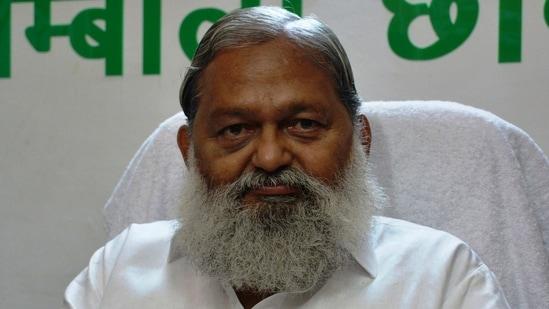 Haryana home minister Anil Vij (HT File)
