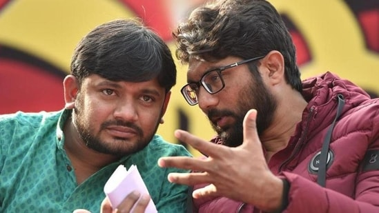 Jignesh Mevani was reportedly in constant touch with Kanhaiya Kumar and Patidar leader Hardik Patel over the past few months.(File photo)