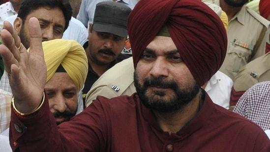 Navjot Singh Sidhu resigned as Punjab Congress chief on Tuesday.(Karun Sharma/HT File Photo)