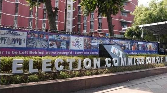 The ECI's guidelines for holding polls during the pandemic will apply to the by-elections on October 30. (Arvind Yadav/HT PHOTO)