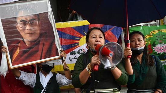 Indian public opinion has also begun to question India's recognition of Tibet as part of China (AFP)