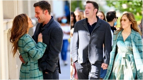 Jennifer Lopez and Ben Affleck share a kiss while enjoying a romantic walk in New York, all pics(Instagram/@jloveglow)