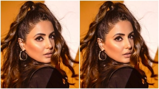 Hina also shared multiple close-ups of her face on her Instagram profile. Blushed-up cheeks, nude lipstick, winged black eyeliner completed her look, and she looked ravishing as ever.(Instagram/@realhinakhan)