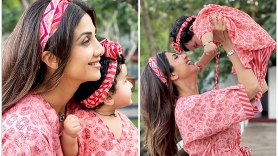 Shilpa Shetty shared a montage of pictures with her daughter Samisha.