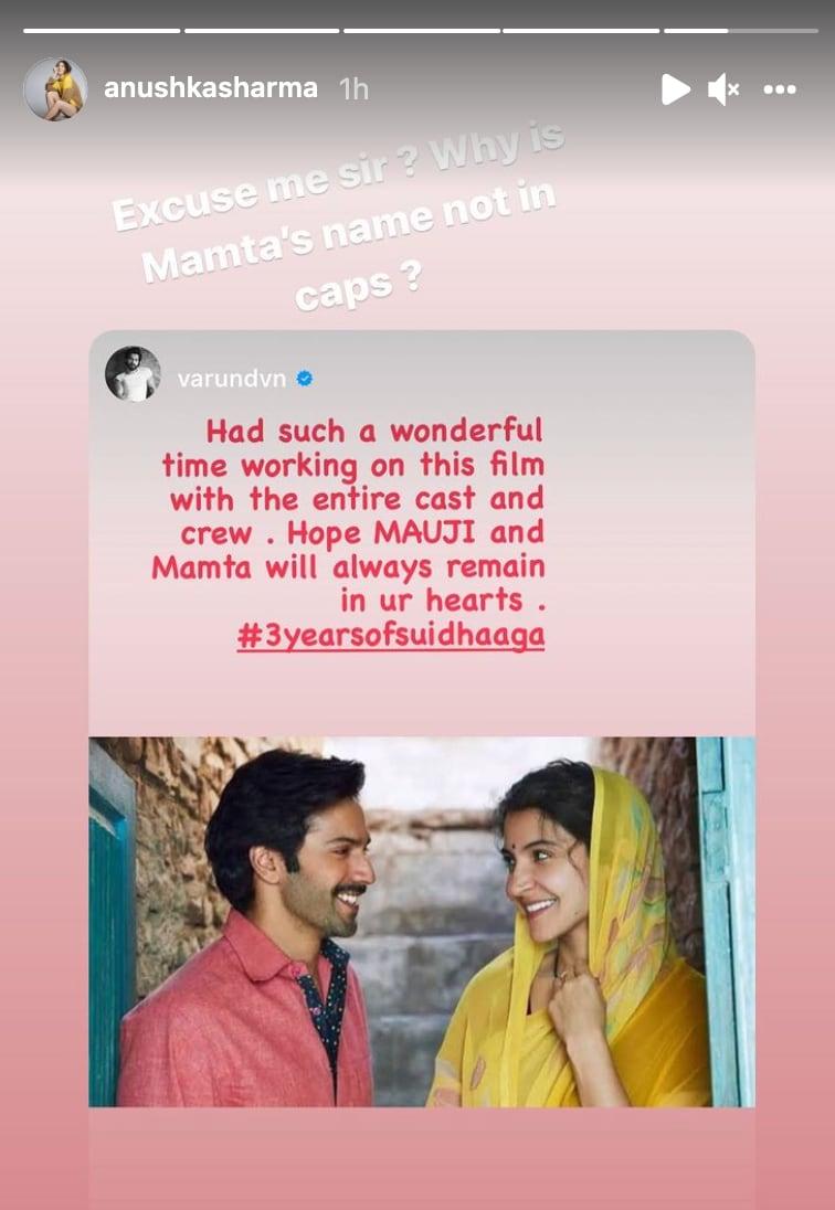 Anushka Sharma's IG post.