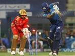 Suryakumar Yadav getting bowled against PBKS(BCCI/IPL)