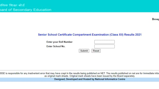 CBSE 12th Compartment Result 2021: CBSE Class 12 Compartment Examination 2021 results can be checked on the official results website of CBSE at cbseresults.nic.in.(cbseresults.nic.in)