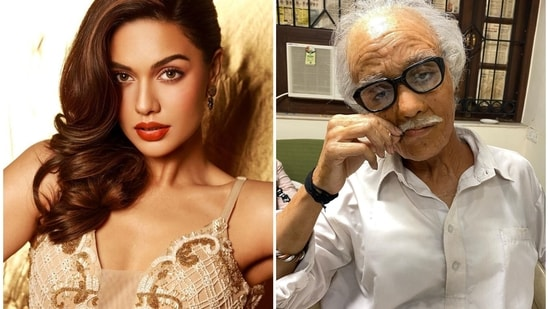 Divya Agarwal shared a picture of herself as an old man, a character she played in the ALTBalaji series Cartel.