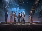 BTS members in the My Universe music video.
