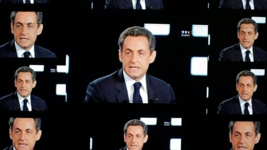 Former French President Nicolas Sarkozy was found guilty Thursday Sept. 30, 2021 of illegal campaign financing of his unsuccessful 2012 reelection bid.(AP)