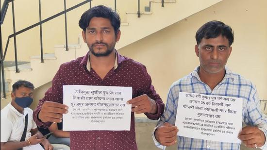 Sushil Kumar (left) and Ravi Kumar were arrested on Sunday for illegally administrating vaccines in Greater Noida. (Sourced)