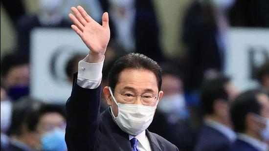 """In domestic politics, will his proposition of advancing """"new Japanese-style capitalism"""" and """"Kishidanomics"""" be enough to convince the electorate? (AFP)"""