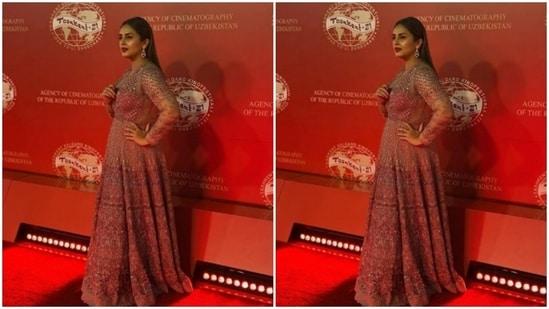 Huma Qureshi blends tradition and contemporary at Tashkent Film Festival(Instagram/@iamhumaq)