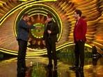 Bigg Boss 15 host Salman Khan with Asim Riaz and his brother Umar Riaz.