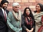 Shabana Azmi with husband Javed Akhtar and his children, Farhan and Zoya Akhtar.