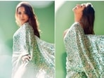 Malaika Arora is currently judging the show Supermodel of The Year season 2 with co-judges Milind Soman and Anusha Dandekar. Recently, the actor took to her Instagram handle to share a few pictures of herself looking stunning in a Manish Malhotra saree.(Instagram/@malaikaaroraofficial)