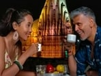 Milind Soman and his wife Ankita Konwar are now in Gujarat, promoting the state's tourism. The couple is leaving no stone unturned in treating fans with pictures from their stay. Recently, Milind took to his Instagram handle to share a few stills from an ancient sacred place in Gujarat.(Instagram/@milindrunning)