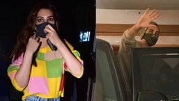 Kriti Sanon and Ranbir Kapoor were among the few stars spotted in Mumbai on Friday.(Varinder Chawla)
