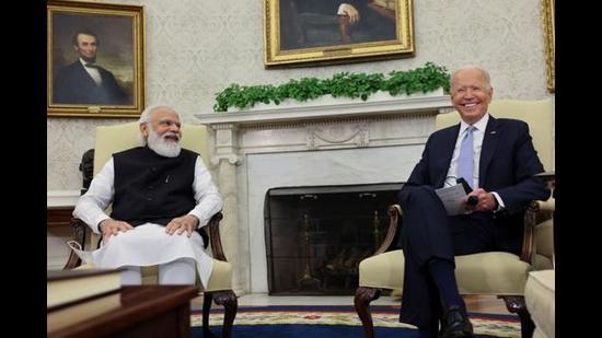 Prime Minister Narendra Modi and US President Joe Biden, Washington, US, September 24, 2021 (REUTERS)