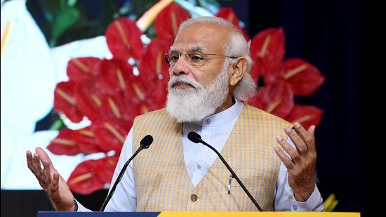 Prime Minister Narendra Modi dedicated the schemes a tribute to Mahatma Gandhi, whose 152nd birth anniversary will be celebrated on Saturday. (ANI)