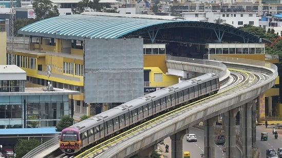 The Bangalore Metro Rail Corporation (BMRCL) has decided to close up the sinkhole with sand and concrete for now, and resume the boring process. (PTI Photo)
