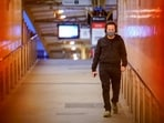 A lone passenger wearing a protective face mask walks from a deserted train platform at Flinders Street during morning commute hours on the first day of a lockdown as the state of Victoria looks to curb the spread of a coronavirus disease (COVID-19) outbreak in Melbourne, Australia(REUTERS)