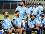 The Delhi Capitals unit is all smiles.(IPL/Twitter)