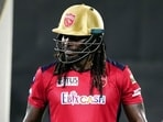 Chris Gayle left the IPL 2021 on Thursday to prepare for the T20 World Cup.(IPL/Twitter)