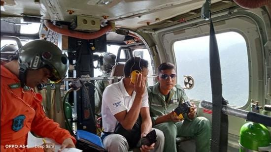 The three-member NIM rescue team led by institute's principal Col Amit Bisht left for the site of the incident on Friday. (HT Photo)