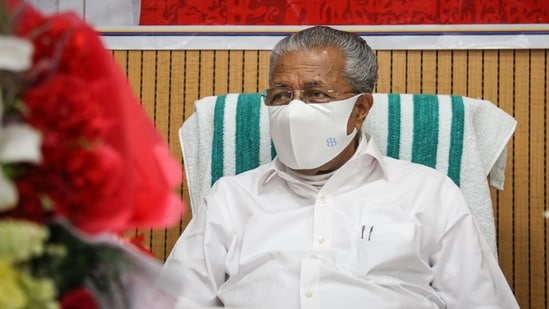 Kerala chief minister Pinarayi Vijayan said that theatres and auditoriums will function with 50 per cent seating capacity.(Sanchit Khanna/HT File Photo)
