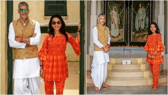 Milind Soman shares one lesson by Mahatma Gandhi that resonates with him, read here(Instagram/@milindrunning)