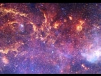 The image is taken from the sonification video of the Milky Way's center.(Instagram/@nasahubble)