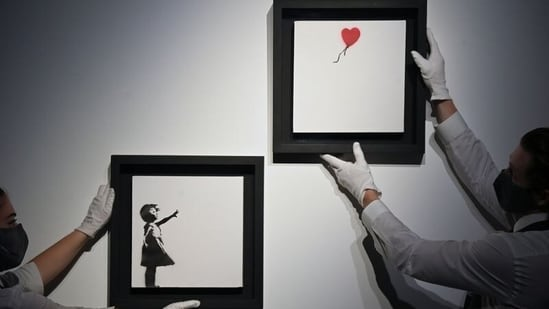 Banksy's Girl With Balloon diptych up for auction for first time, could fetch USD 4.75 million(REUTERS)