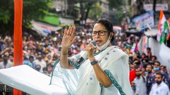 Bhabanipur assembly constituency has been a bastion of TrinamooL Congress lef by West Bengal chief minister Mamata Banerjee.(PTI photo)