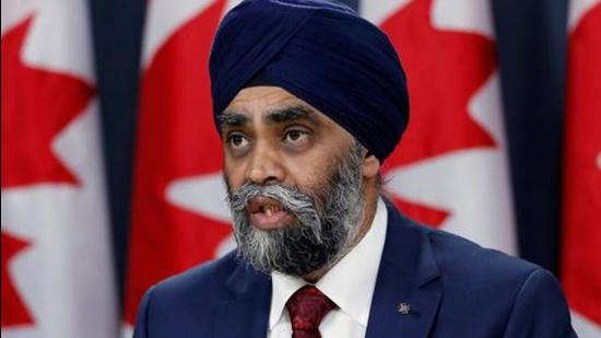 Harjit Sajjan is accused of alleged mishandling of the sexual misconduct case involving previous Chief of Defence Staff Jonathan Vance. (REUTERS Photo/File)