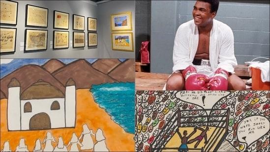 Boxing legend Muhammad Ali's rare collection of original artwork up for auction(Instagram/bonhamspopularculture/muhammadali)