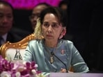 State Counsellor of Myanmar Aung San Suu Kyi during the 22nd ASEAN Plus three summit in Bangkok, Thailand in 2019.(Reuters File Photo)