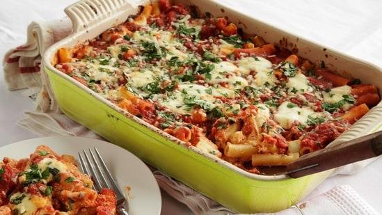 Recipe: Make restaurant-style Baked Cheesy Pasta at home with a health twist(Godrej Vikhorli Cucina)