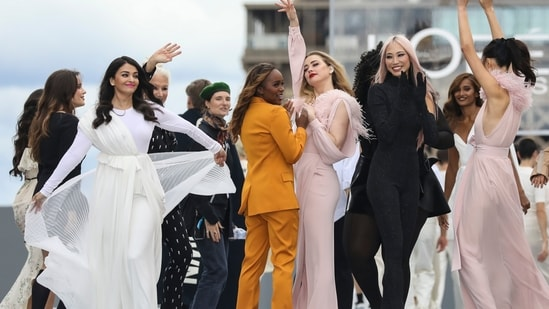The shows theme was women's empowerment and the brand aimed to showcase L'Oréal's Stand Up Against Street Harassment cause.(Vianney Le Caer/Invision/AP)