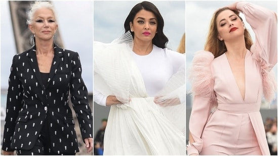 The Le Defile L'Oreal Paris 2021 Womenswear Spring/Summer 2022 show at the ongoing Paris Fashion Week was a star-studded affair with the biggest names walking the ramp for the cosmetics giant. The runway show was held at a beautiful location with the Eiffel Tower forming a stunning backdrop.