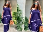 Hina Khan often makes headlines for her stylish attires. She recently shared pictures of herself in an easy-breezy outfit.(Instagram/@realhinakhan)